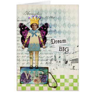 Dream Big Altered Art Vintage Collage Card