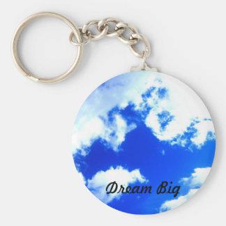 Dream Big Basic Round Button Keychain