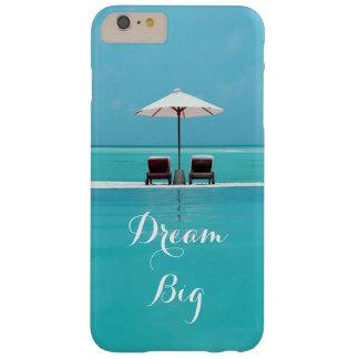 Dream Big Beautiful Blue Sky and Beach Pattern Barely There iPhone 6 Plus Case