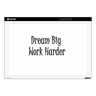 "Dream Big- Black 17"" Laptop Skins"