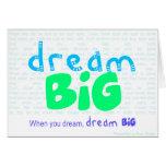 Dream Big - Blue Card