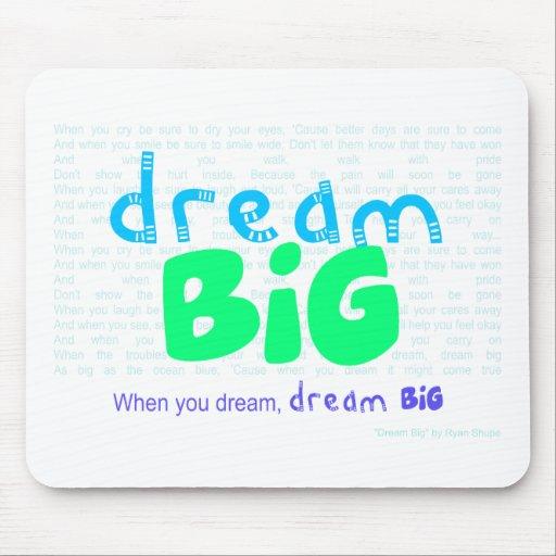 Dream Big - Blue Mouse Pad