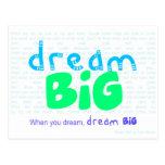 Dream Big - Blue Postcard