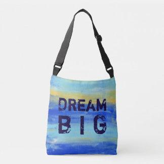 Dream Big - Blue Turquoise Nautical Abstract Art Crossbody Bag
