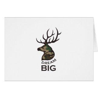 DREAM BIG BUCK GREETING CARD