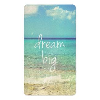 Dream big business card template