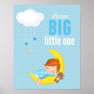 Dream big * choose background color poster