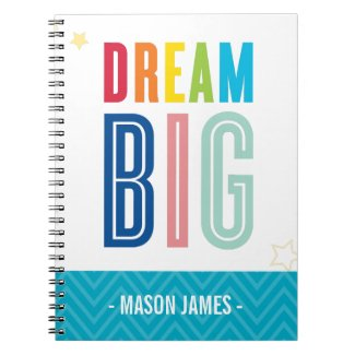 DREAM BIG cool typography bright colors Notebook