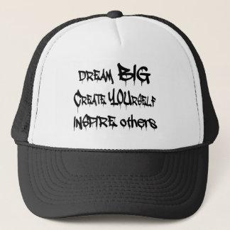 Dream Big Create Yourself Inspire Others- black Trucker Hat