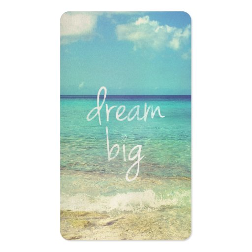 Dream big Double-sided Standard Business Cards (pack Of 100)