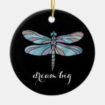 Dream Big Dragonfly Christmas Ornaments