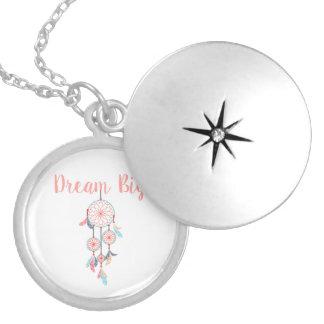 Dream Big Dreamcatcher Bohemian Dream Catcher Locket Necklace