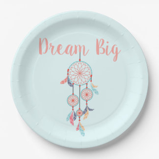 Dream Big Dreamcatcher Bohemian Dream Catcher Paper Plate