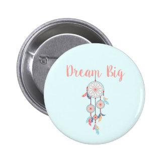 Dream Big Dreamcatcher Bohemian Dream Catcher Pinback Button
