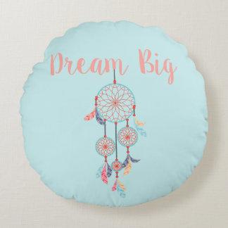 Dream Big Dreamcatcher Bohemian Dream Catcher Round Pillow