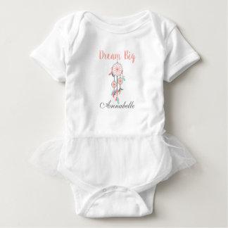 Dream Big Dreamcatcher Dream Catcher in Peach Baby Bodysuit