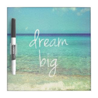 Dream big dry erase whiteboard