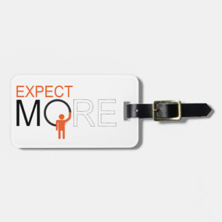 dream big - expect more tag for luggage