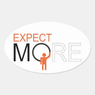 dream big - expect more oval sticker