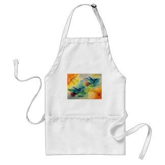 Dream Big! Hummingbird Watercolor Painting Adult Apron