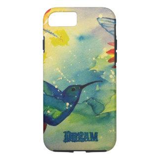 Dream Big! Hummingbird Watercolor Painting iPhone 7 Case