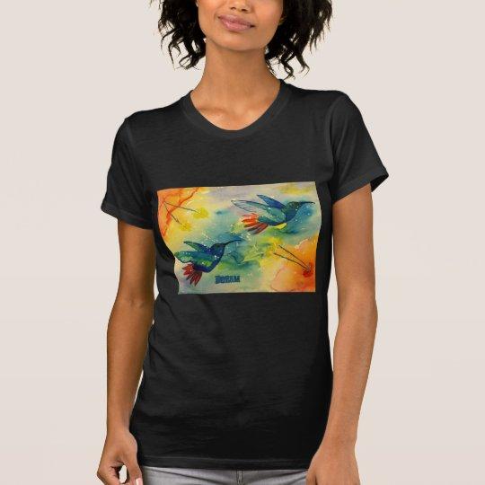 Dream Big! Hummingbird Watercolor Painting T-Shirt