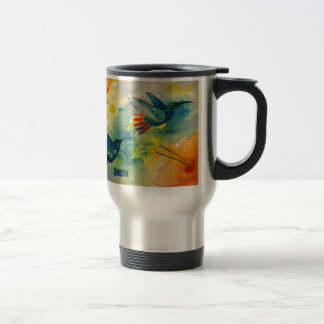 Dream Big! Hummingbird Watercolor Painting Travel Mug