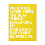 "Dream Big Inspirational - 18"" x 24"" Canvas Print"