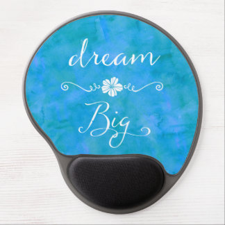 Dream Big Inspirational Happiness Quote Gel Mouse Pad