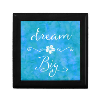 Dream Big Inspirational Happiness Quote Keepsake Box