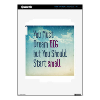 Dream Big iPad 3 Decal