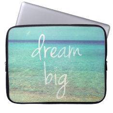 Dream big laptop sleeve at Zazzle
