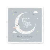 Dream big little one baby shower party napkin