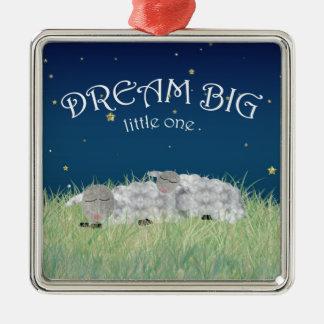 Dream Big Little One Cute Nursery Art Metal Ornament