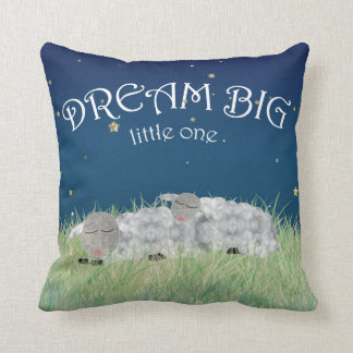 Dream Big Little One Cute Nursery Art Throw Pillow