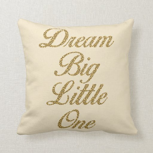 Dream Big Little One Leopard Print Nursery Pillow