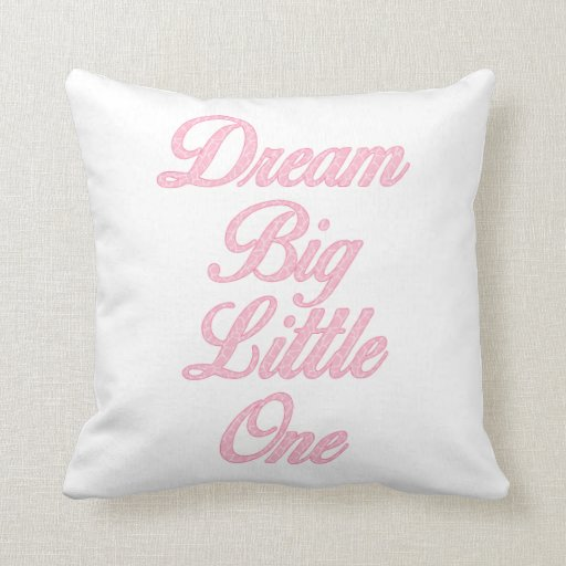 Dream Big Little One Pink Giraffe Nursery Pillow