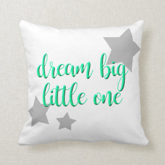 dream big little one simple modern baby throw pillow