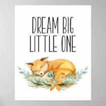 Dream Big Little One, Sleeping Fox Print