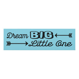 Dream Big Little One Wall Panel for Baby Nursery