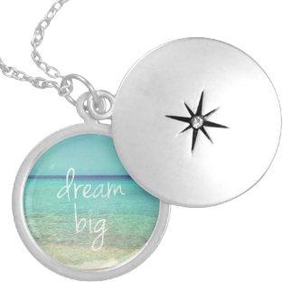 Dream big locket necklace