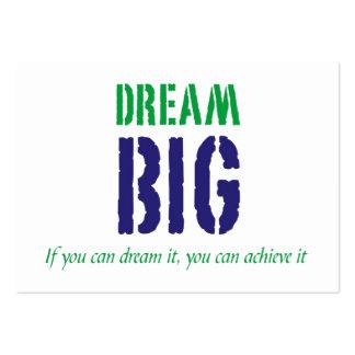 Dream Big motivart card Business Card Template