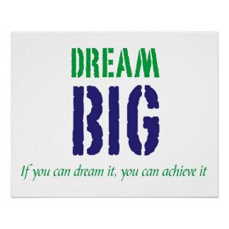 Dream Big Motivational Words Poster