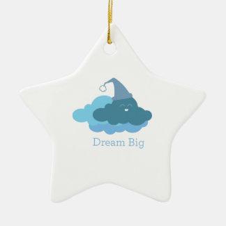 Dream Big Double-Sided Star Ceramic Christmas Ornament