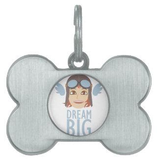 Dream Big Pet ID Tag