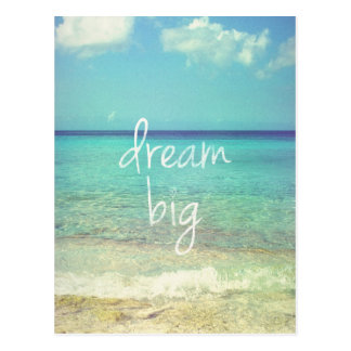 Dream big postcard