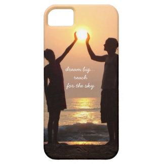 dream big.. reach for the sky,  beach sunrise iPhone 5 covers
