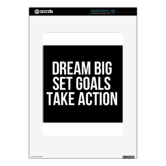 Dream Big Set Goal Take Action Motivational Quote Decal For iPad