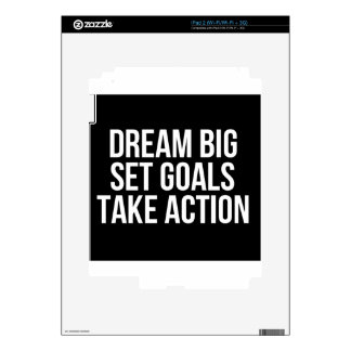 Dream Big Set Goal Take Action Motivational Quote Decal For iPad 2