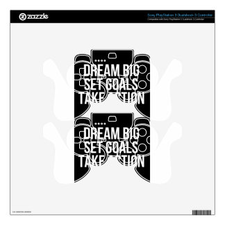 Dream Big Set Goal Take Action Motivational Quote Decal For PS3 Controller